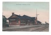 Brookings, South Dakota Postcard:  N. W. Railroad Station