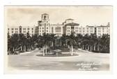 Hollywood, Florida Real Photo Postcard: Hollywood Beach Hotel