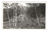 Alexandria, New Hampshire Real Photo Postcard:  Mt. Cardigan AMC Ski Lodge