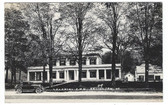 Arlington, Vermont Real Photo Postcard:  Colonial Inn & Old Car