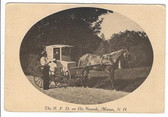 Mason, New Hampshire Postcard:  The R.F.D. on His Rounds