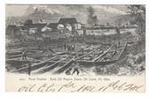 Oil City, Pennsylvania Postcard:  Sketch of Pond Freshet, 1864 Early Oil Region Scene