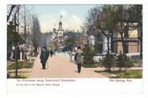 Hot Springs, Arkansas Postcard:  The Promenade Along Government Reservation