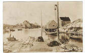 Peggy's Cove, Nova Scotia, Canada Real Photo Postcard:  Harbor View