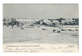 Gardiner, Maine Postcard:  Ice Cutting on the Kennebec River