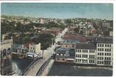 New Castle, Pennsylvania Postcard:  Bird's Eye View & Coca-Cola Sign