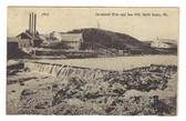 North Anson, Maine Postcard:  Carrabassett River and Sawmill