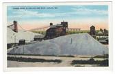 Joplin, Missouri Postcard:  Weber Mine & Ore Pile