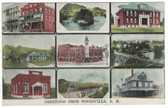 Woodsville, New Hampshire Postcard:  9 View Multiview
