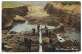 Alaska Postcard:  Gold Mining