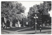 Cresco, Iowa Real Photo Postcard:  Court House Square