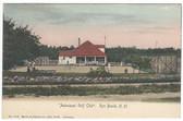 Rye Beach, New Hampshire Postcard:  Asbenaqui Golf Club and Tennis Court