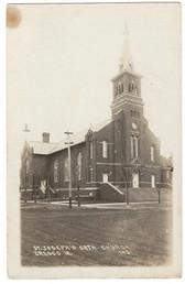 Cresco, Iowa Real Photo Postcard:  St. Joseph's Catholic Church