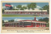 Rahway, New Jersey Linen Postcard:  Motel Tourist Village
