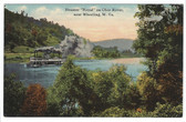 "Wheeling, West Virginia Postcard:  Steamer ""Royal"" on the Ohio River"