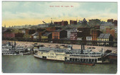 St. Louis, Missouri Postcard:  Steamer Quincy on the Riverfront