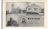 Meriden, Connecticut Postcard:  100th Anniversary of Meriden & 61st Anniversary of Stephen Sweet's Infallible Liniament