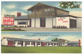 New Castle, Delaware Linen Postcard:  Park Plaza Motor Court