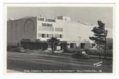 Hollywood, California Real Photo Postcard: Carroll Theatre & Restaurant
