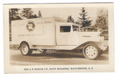 Manchester, New Hampshire Real Photo Postcard:  Old Blake's Creamery Truck