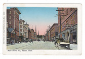 North Adams, Massachusetts Postcard:  Main Street Copper Windows
