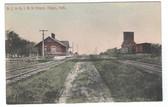 Edgar, Nebraska Postcard:  Railroad Station