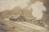 Alford, Pennsylvania Real Photo Postcard:  Train Station
