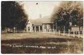 Standish, Michigan Real Photo Postcard:  M. C. Railroad Station