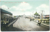 Brockton, Massachusetts Postcard:  Harness Race, Brockton Fair