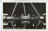 1939 New York World's Fair Real Photo Postcard:  Night Scene, Lagoon of Nations