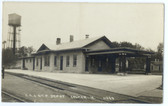 Calmar, Iowa Real Photo Postcard:  Railroad Station