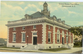 Greenwood, South Carolina Postcard:  United States Post Office