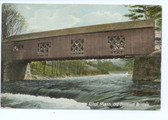 Athol, Massachusetts Postcard:  Old Covered Bridge