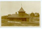 Ashland, Ohio Real Photo Postcard:  Erie Railroad Station