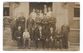 Brockton, Massachusetts Real Photo Postcard:  July, 1908 Clerks of the Post Office