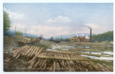 Johnson, New Hampshire Postcard:  Johnson Lumber Company