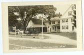 East Swanzey, New Hampshire Real Photo Postcard:  Stage Coach at Reid's