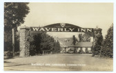 Cheshire, Connecticut Real Photo Postcard:  Waverly Inn