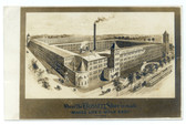 Abington, Massachusetts Real Photo Postcard:  Crossett Shoe Factory Advertising