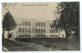 Fairfield, Connecticut Postcard:  Sherman School
