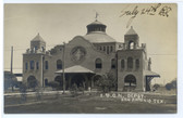 San Antonio, Texas Real Photo Postcard:  Railroad Station