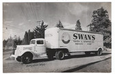 Bellingham, Washington Real Photo Postcard:  Swan's Moving Truck