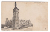 Fort Worth, Texas Postcard:  Texas & Pacific Railroad Station