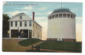 Bangor, Maine Postcard:  Stand Pipe and Fire Station, Summit Park