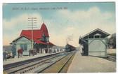 Mountain Lake Park, Maryland Postcard:  B. & O. Train Station
