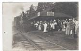 Silver Lake, New York Real Photo Postcard:  Train Station & Ice Cream