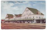 La Junta, Colorado Postcard:  A. T. & S. F. Railroad Station