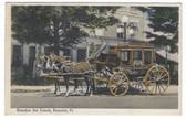 Brandon, Vermont Postcard:  Brandon Inn Stage Coach