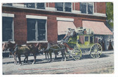 Keene, New Hampshire Postcard:  The Chesterfield Stage Coach Leaving Post Office