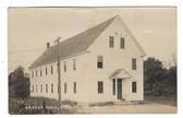 Strong, Maine Real Photo Postcard:  Grange Hall
